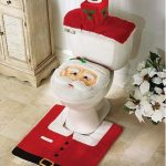 Santa-Toilet-seat-cover-Rug-Set-for-Christmas-Bathroom-Decoration