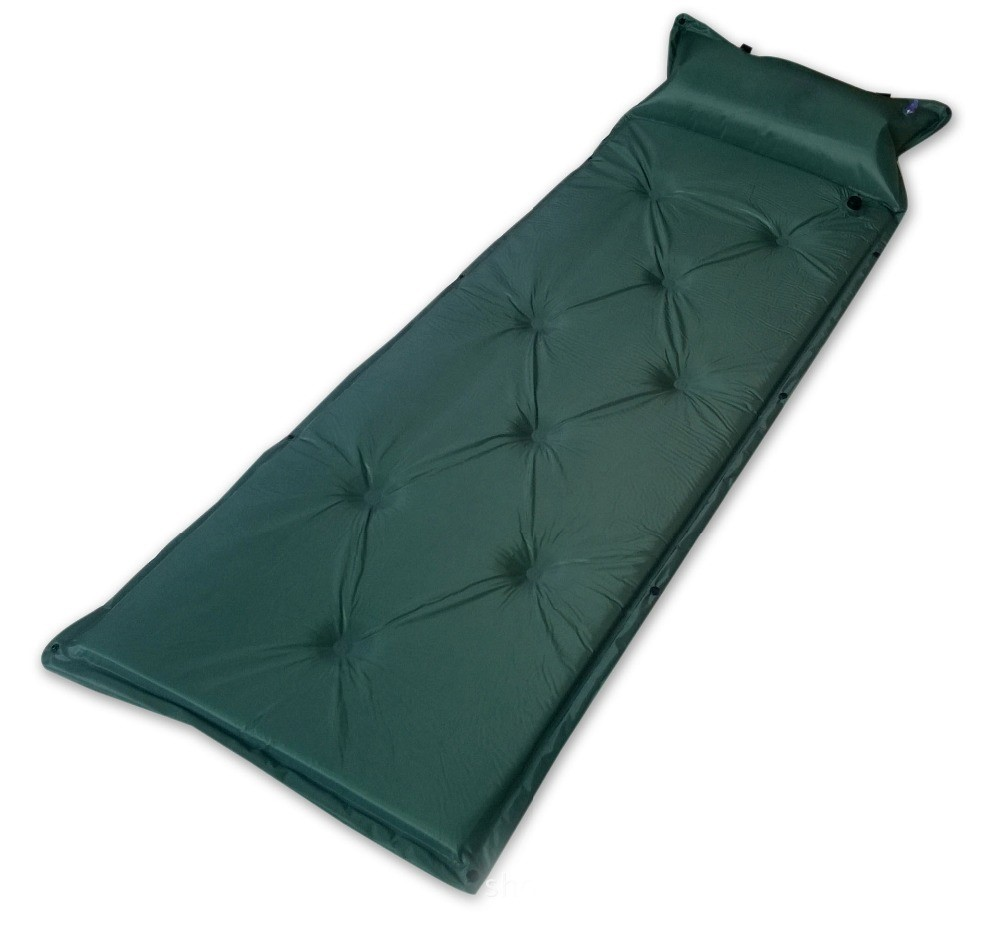 Outdoor Camping Sleeping Mat With Inflatable Cushion
