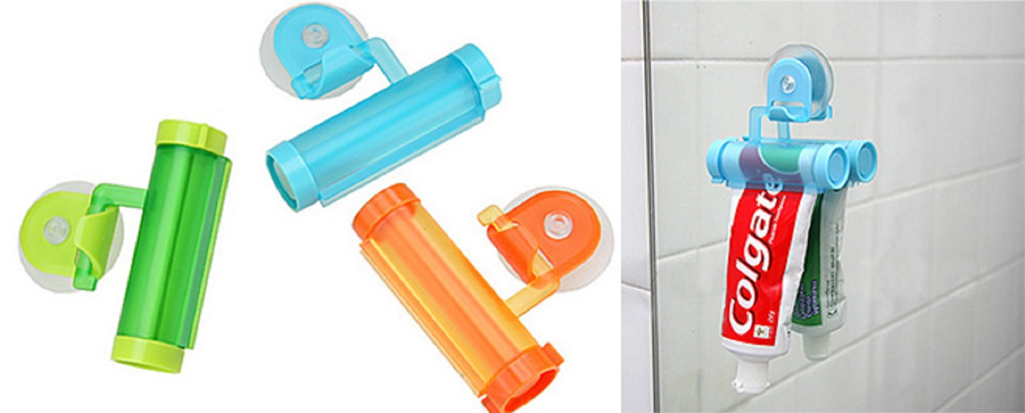 Suction cup toothpaste squeezer set of 2 redeem source - Keep toothpaste kitchen ...