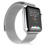 apple watch woven band - silver