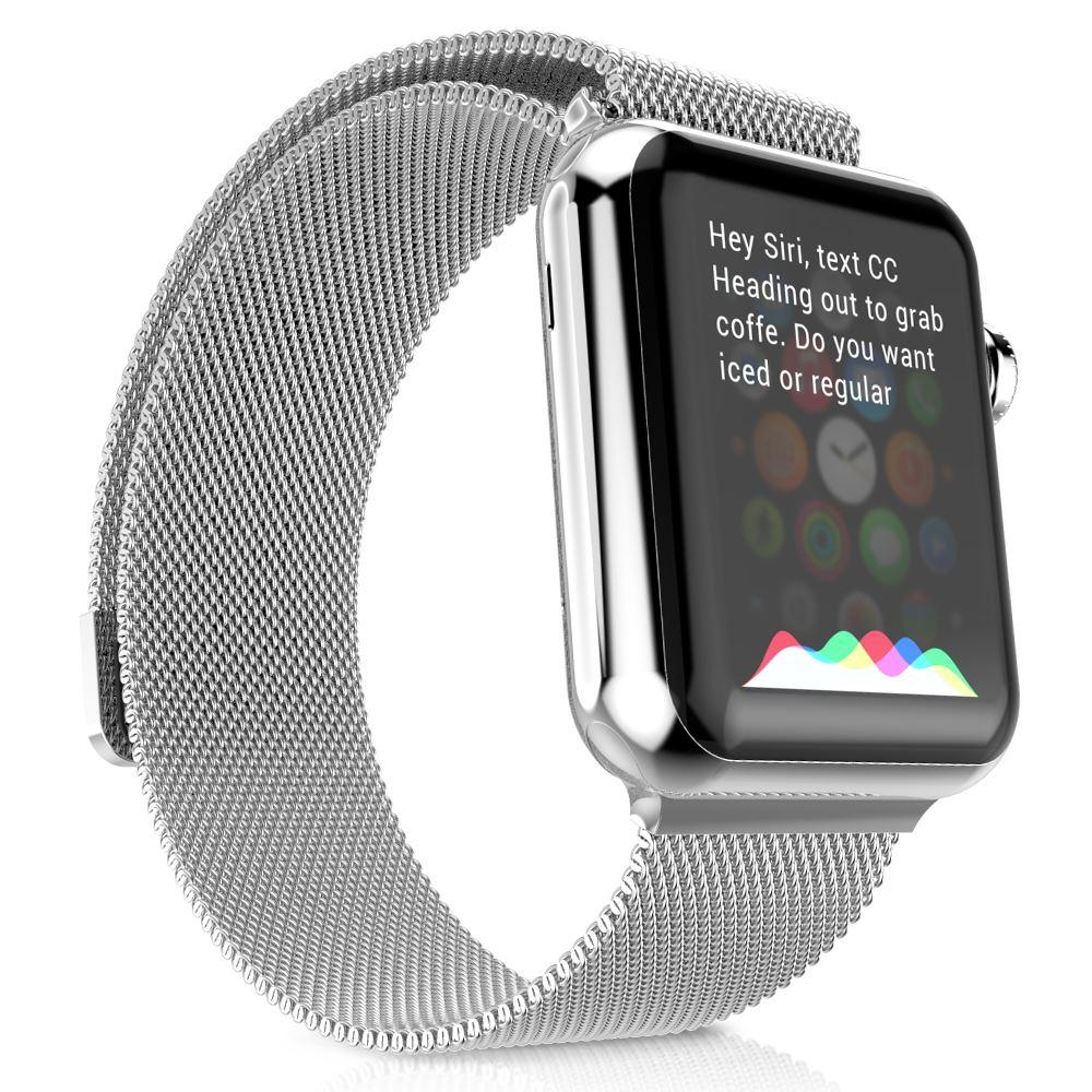 apple watch woven band – silver