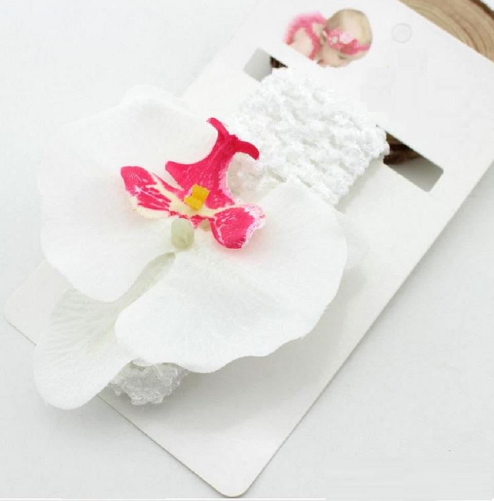 orchid headband – white
